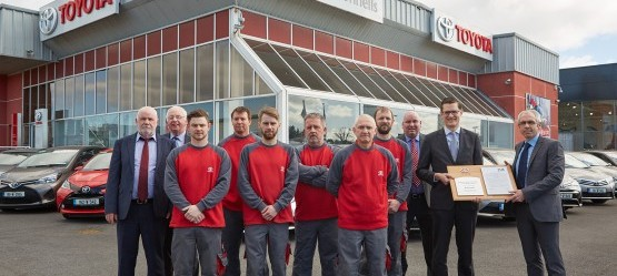 McConnells Bodyshop Awarded Toyota TSM Standard of Excellence